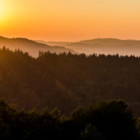 Západ slunce nad Pulčínem