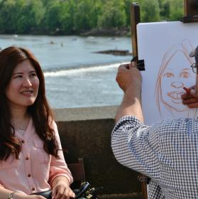 Karikatura na Karlově mostě