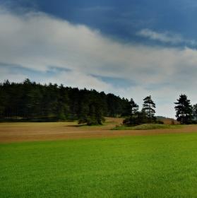 Jarní krajina v okolí Třebíče