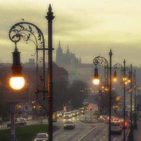 Lednový skorojarní pražský podvečer