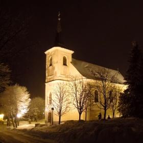 Boží Dar v noci