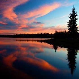 Summit Lake Sunset