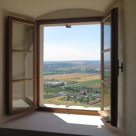 Výhled zvoníka od svatého Šebestiána