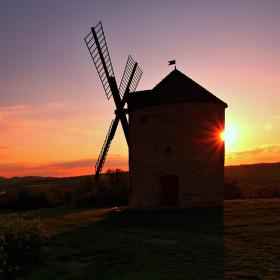 Západ na mlýně