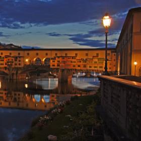 Noční Ponte Vecchio
