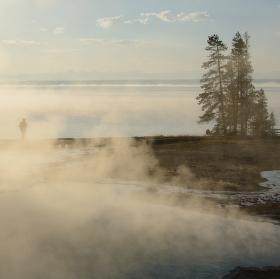Ztracený turista v Yellowstonu