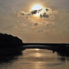 Pozdní odpoledne nad Moravou