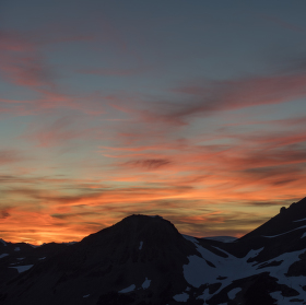Zapad slunce nad Black Tuskem