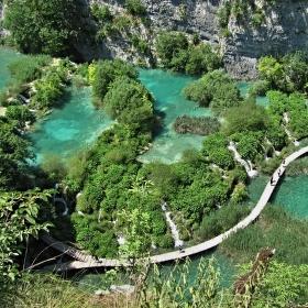 Na Plitvických jezerech