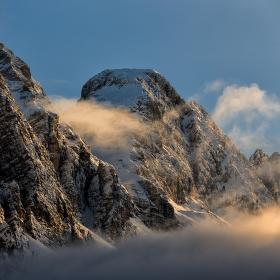 Zimní Dolomity