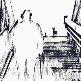 Muž a pes /fotografika/