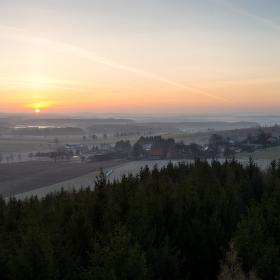 Východ slunce na Rosičce