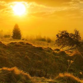 Šumava - ráno na Skelné
