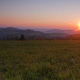 Svítání na Šumavě