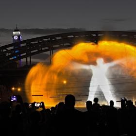 750 let Ostravy - virtuální street - laser show