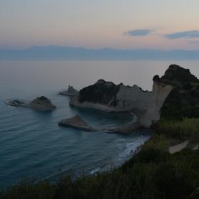 Svítání na ostrově Korfu