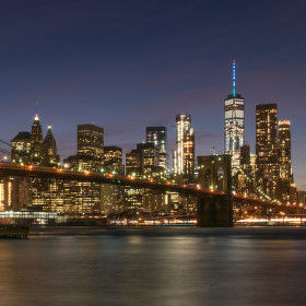 Brooklynský most a dolní Manhattan