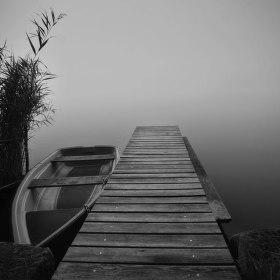 Mlha nad Holanským rybníkem