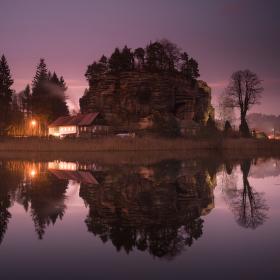 Večer na Hradním rybníku