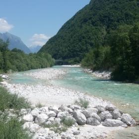 Řeka Soča - Slovinsko
