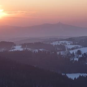 Mrazivý podvečer v Jizerkách