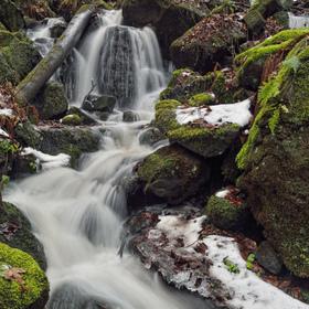 Vodopád na říčce Bystřičce