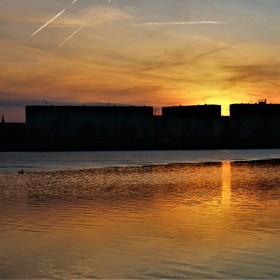 Podvečer u přehrady.
