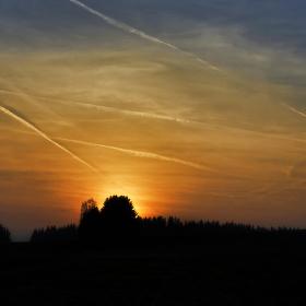 Aprílový západ slunce