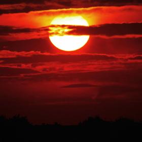 Slunce za Prahou.