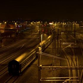 Noční nádraží v Plzni