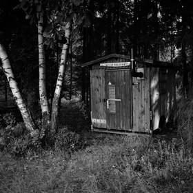 Dřevorubecká chýše v Sasku