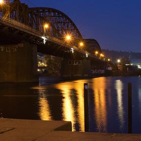 Ráno u Železničního mostu