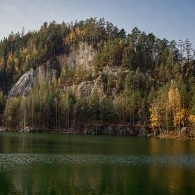 Podzim u jezera Pískovna (2)
