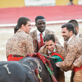 Radost nad chycením býka