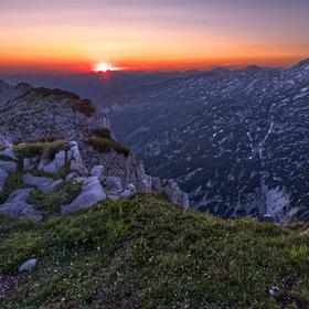 Západ z vrcholu Traweng