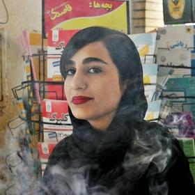 Dívka v kouři
