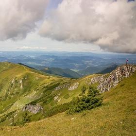 Pohled na vrchol Pekelník z Kriváně