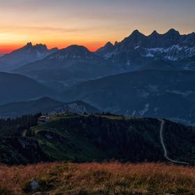 Dachstein po západu