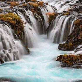 Detaily islandských vodopádů