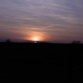 Západ slunce u obory divokých koní 2