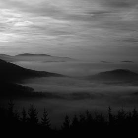 Podvečer z Javorového vrchu