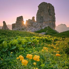 Svítání v Dolomitech
