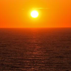 Západ slunce v Newquay...
