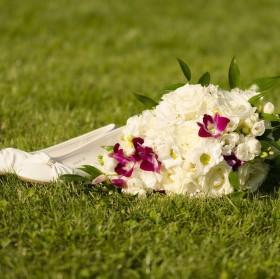 svatební kytice se střevíčky