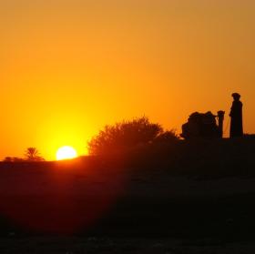 Západ slunce na Nilu