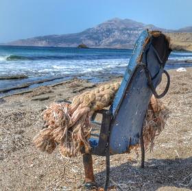 Pláž odpadků