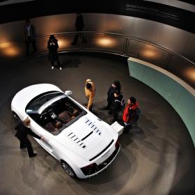 Detail pavilonu Audi