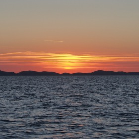 Západ slunce nad Kornati