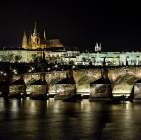 Noční Hradčany
