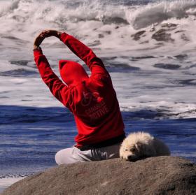 Rozcvička na pláži